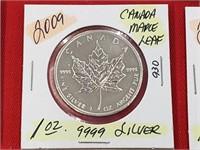 2009 Canada Maple Leaf 1 oz .999 Silver