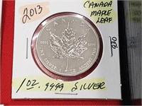 2013 Canada Maple Leaf 1 oz .999 Silver