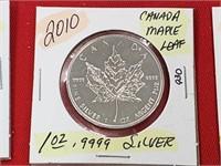 2010 Canada Maple Leaf 1 oz .999 Silver