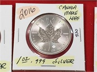2016 Canada Maple Leaf 1 oz .999 Silver