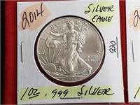 2014 1 oz .999 Silver Eagle $1 Dollar