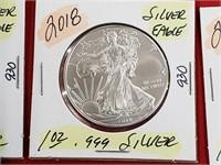 2018 1 oz .999 Silver Eagle $1 Dollar