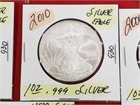 2010 1 oz .999 Silver Eagle $1 Dollar