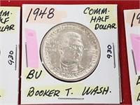 BU 1948 Booker T. Washington Comm. Half Dollar