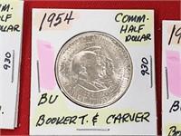 BU 1954 Booker T. & Carver Comm. Half Dollar
