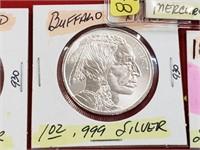 1 oz .999 Silver Buffalo Round