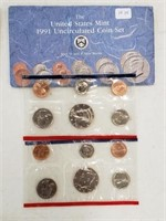 1991 United States Uncirculated Coin Set