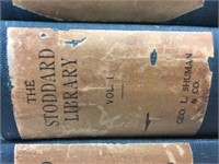 The Stoddard Library Eleven Volume Book Set