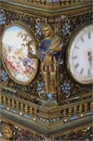 Enamel Decorated 12 Inch Viennese Tower Clock