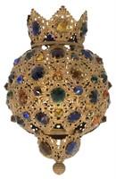 Jeweled Pull-Down Hall Lamp Shade