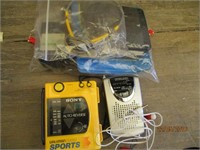 Portable Radios, Plastic Balls, Visors, Headband,