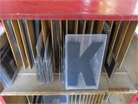 Readerboard Letters, Shelf