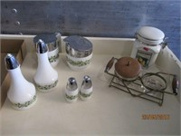 Cream and Sugar Holders, Salt and Pepper Shakers,