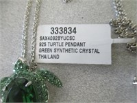 Green Crystal Turtle Pendant & More