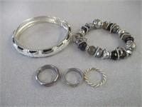 2) Bracelets & 3) Rings