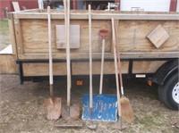 Shovels, Hoes, Rake, Broom