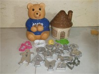 2 Cookie Jars and Cookie Cutters