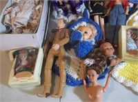 Variety of Dolls and Clothes