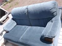 Blue Bassett Love Seat
