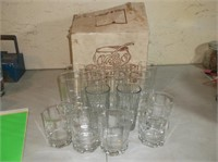 Punch Bowl Set and Glasses