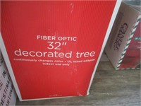 Fiber Optic Trees, Winter Wonderland Candle,