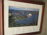 Framed Photos, Art, Map