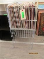 2) Metal Bins of Records