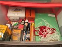Plastic Organizer with Craft Supplies: Glue Gun,