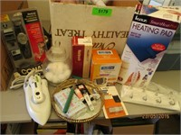 Heating Pad, Hair Dryers, Iron, Soap and More