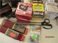 Hard Drive, Pencils, Writing Pads, Power Stips,