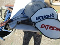 3) Tennis Rackets, Lowes Hat, Exer-Genie