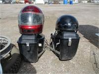 Bike Rims, 2) Motorcycle Helmets, 2) Bike Bags