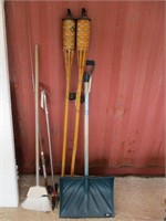 Tiki Torches, Rolling Clippers, Broom, Snow Shovel
