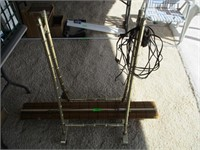 Gold Colored Rack, Blinds and 3) Extension Cords