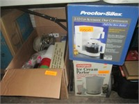 Coffee Maker, Ice Cream Maker, Cups and More