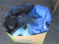 2) Sleeping Bags, Mat, and Stadium Chair