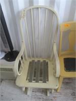 1) Chair and 1) Glider Rocker