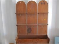 Side Table, Lamps, Shelf