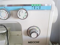 Necchi Sewing Machine , Case and Sewing Basket