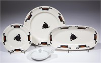 Table ware made for the Ahwahnee Hotel and the Tahoe Tavern in California. From the collection of the late Phillip M. Sullivan.