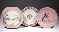 Sample plates made by Buffalo China. From the collection of the late Phillip M. Sullivan.