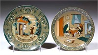 Deldare Ware by Buffalo Pottery with Emerald and Dr. Syntax designs. From the collection of the late Phillip M. Sullivan.
