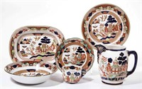 Collection of Gaudy Willow patterns made by Buffalo Pottery. From the collection of the late Phillip M. Sullivan.