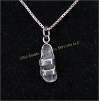 STERLING SILVER SANDLE NECKLACE
