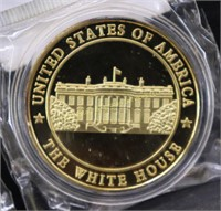 NIP..24kt GOLD LAYERED PROOF COINS