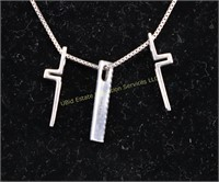 TRINITY CROSS STERLING SILVER NECKLACE