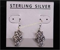 OWL STERLING SILVER EARRINGS