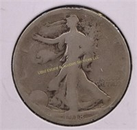 1918-S WALKING LIBERTY SILVER HALF DOLLAR