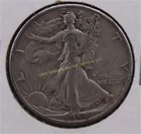 1944-D WALKING LIBERTY SILVER HALF DOLLAR