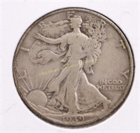 1939-S WALKING LIBERTY SILVER HALF DOLLAR